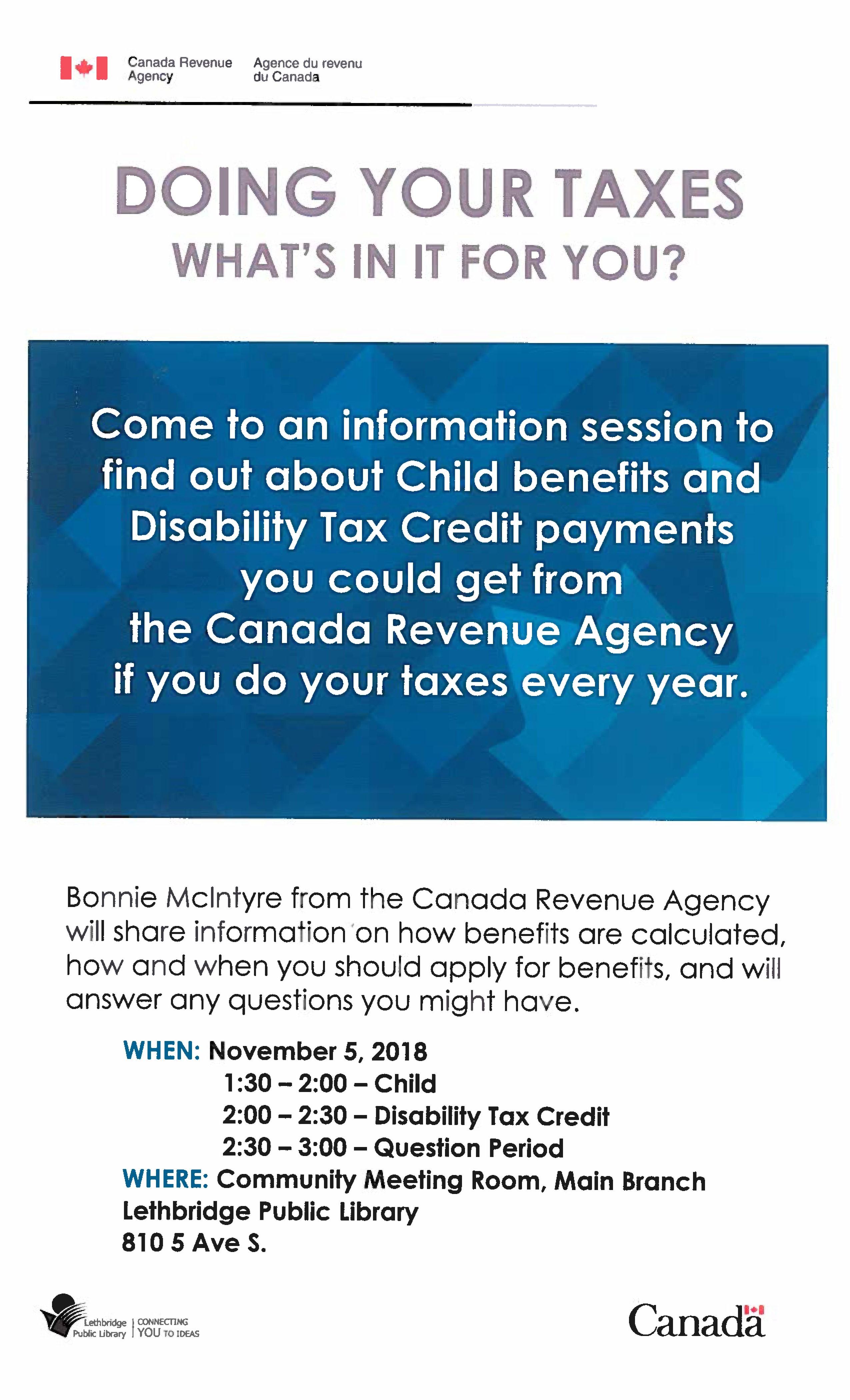 Canada Revenue Agency Presentation   Lethbridge Public Library