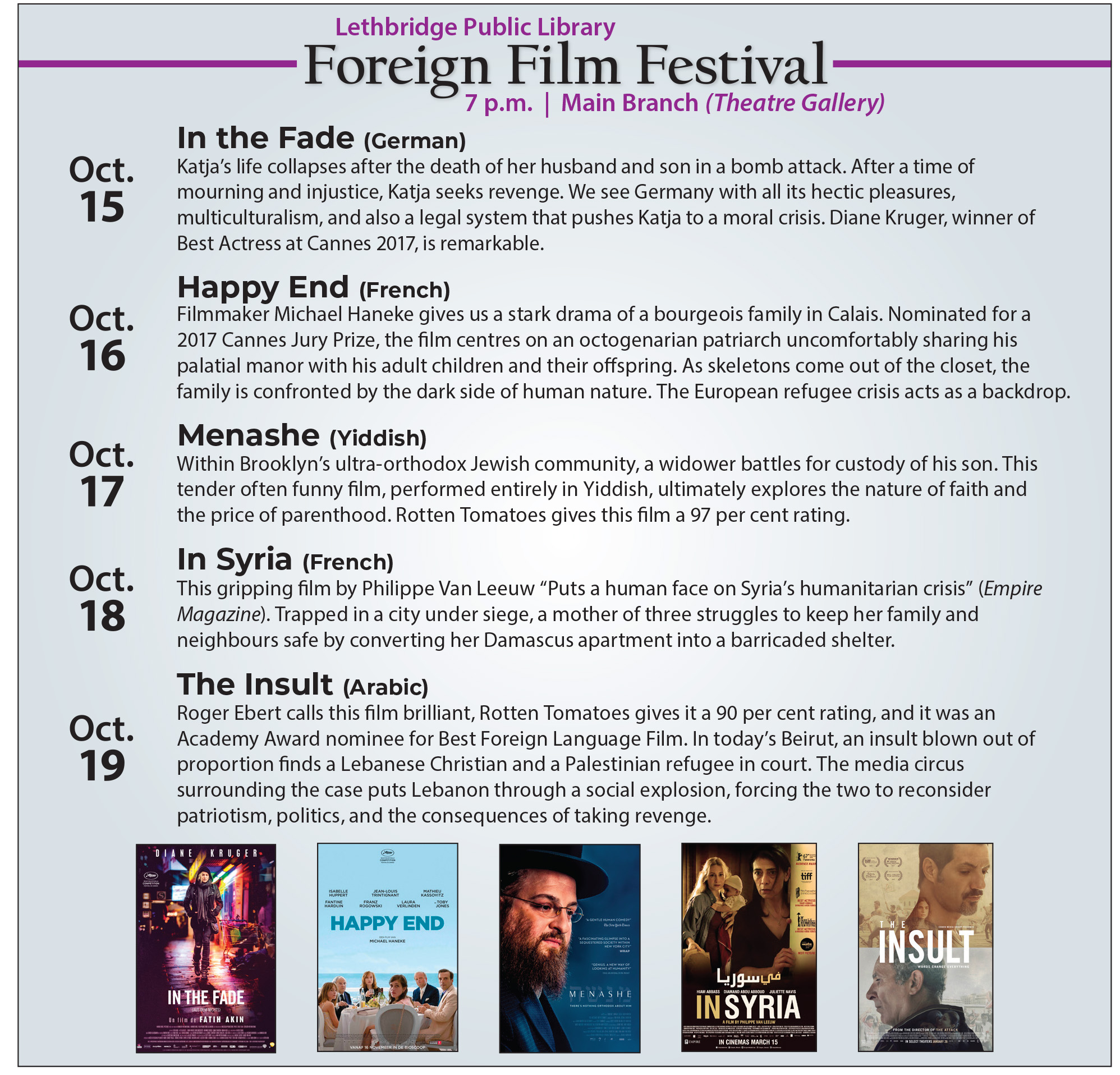 FOREIGN FILM FESTIVAL | Lethbridge Public Library
